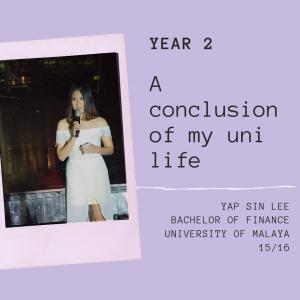 【关于自己】马来亚大学大二生活:丰富精彩起伏最大的一年。刺伤我的各个挫折,成了我成长的基石。